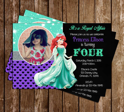 Disney Princess Ariel - The Little Mermaid - Birthday Invitations