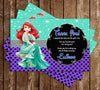 Disney Princess Ariel - The Little Mermaid - Chalkboard - Birthday Invitation