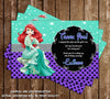 Disney Princess Ariel - The Little Mermaid - Birthday Thank You Cards