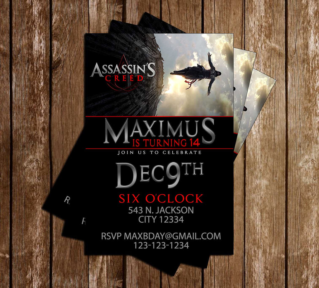 Assassin's Creed - Video Game - Birthday - Invitation