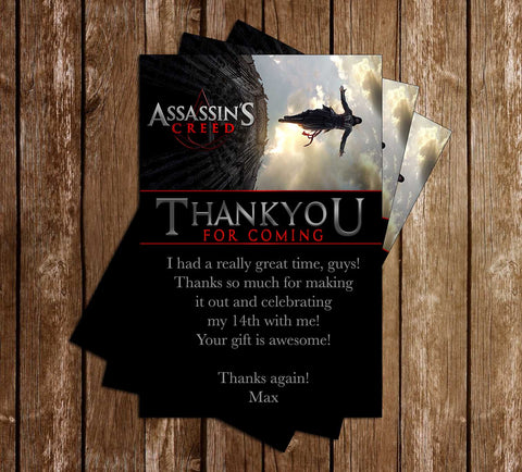 Assassin's Creed - Video Game - Birthday - Thank You Card