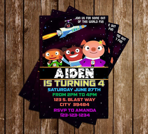 Astroblast! - Tv Show - Birthday Party - Invitation