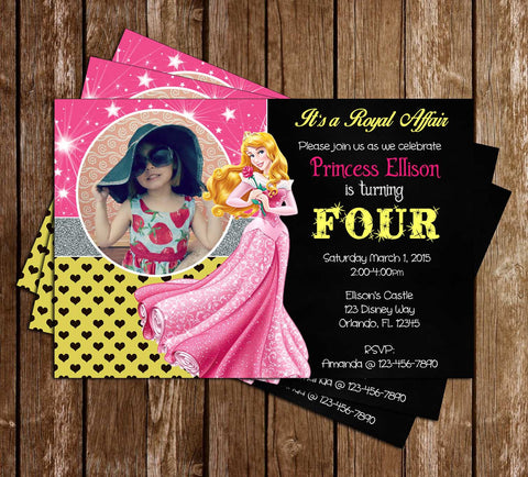 Disney Princess Aurora - Sleeping Beauty - Birthday Invitations