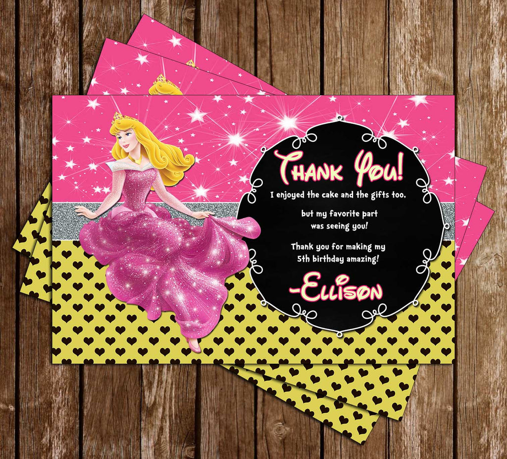 Disney Princess Aurora - Sleeping Beauty - Birthday Thank You Cards