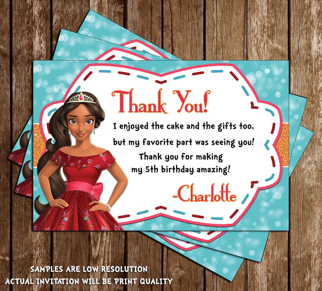 Novel concept designs elena of avalor birthday thank you card elena of avalor birthday thank you card bookmarktalkfo Image collections
