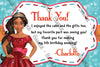 Elena of Avalor - Birthday Thank You Card