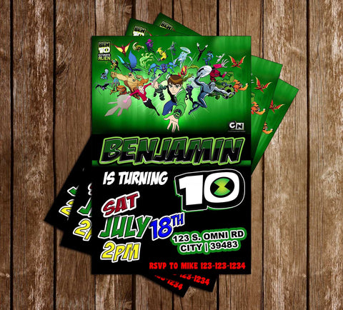 Ben Ten - Show - Birthday Party - Invitation