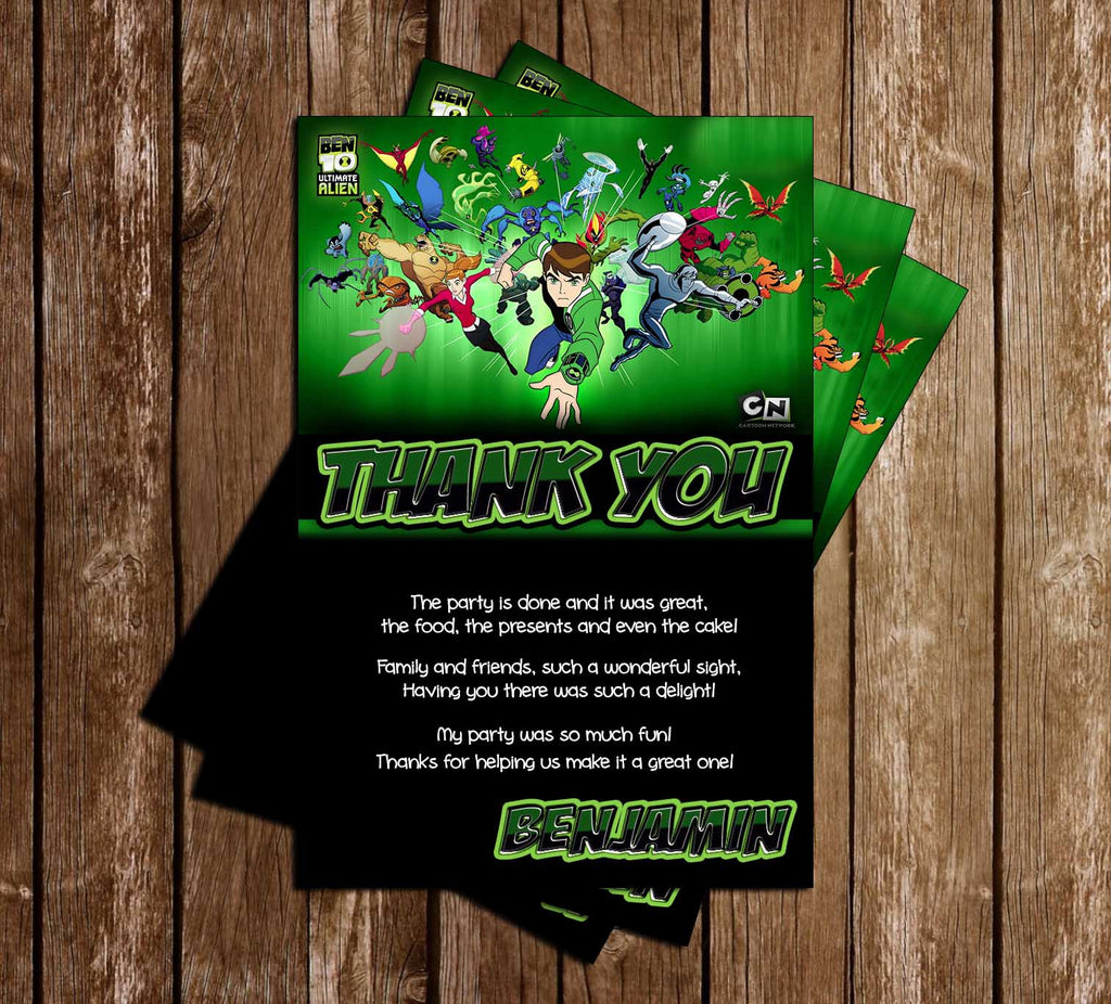 Ben Ten - Show - Thank You Card