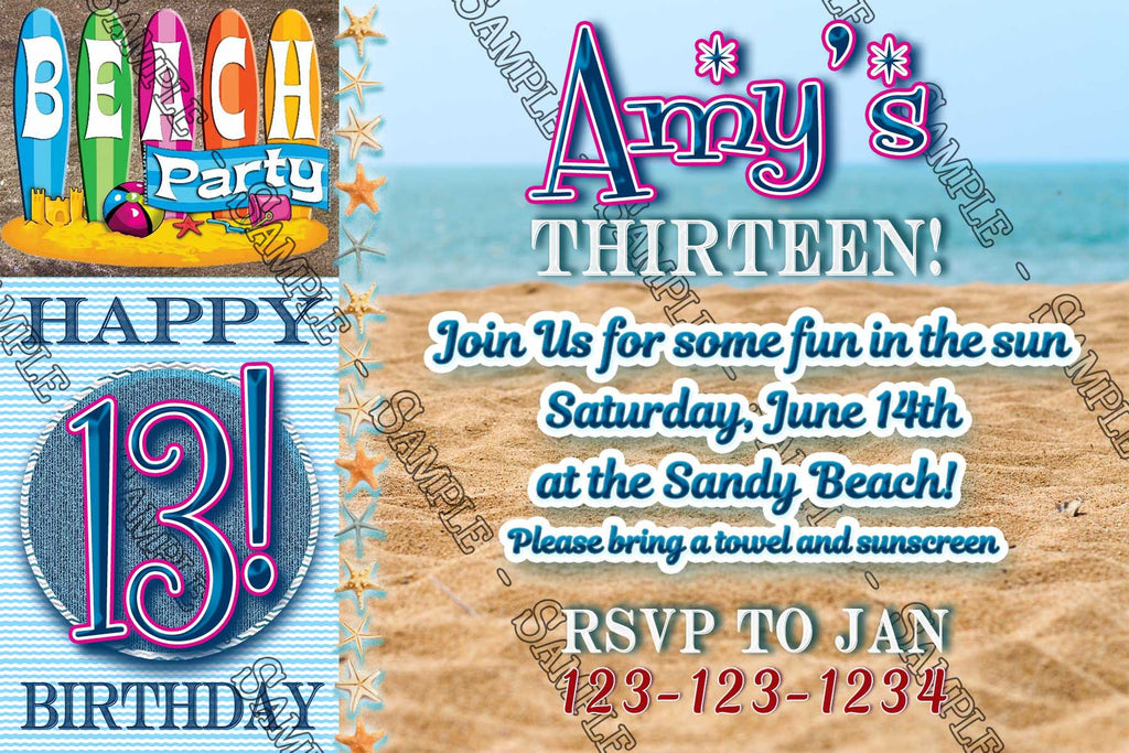 novel concept designs beach party swimming birthday party