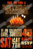 Bonfire - Fire Pit - Birthday Party - Invitation