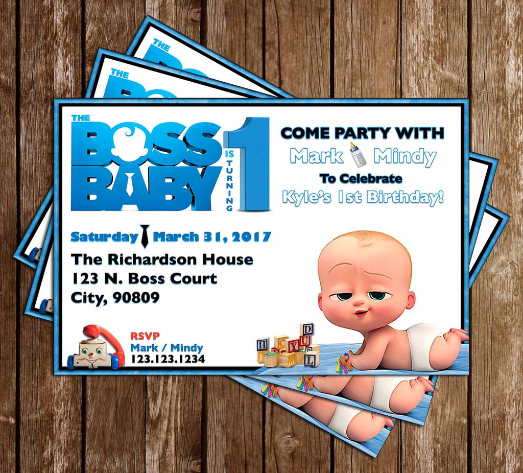 Novel Concept Designs Boss Baby Movie Birthday Party Invitation