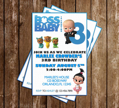 The Boss Baby - Tall - Birthday Party - Invitation