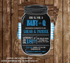 Baby-Q - Baby Boy - Baby Shower - Invitation