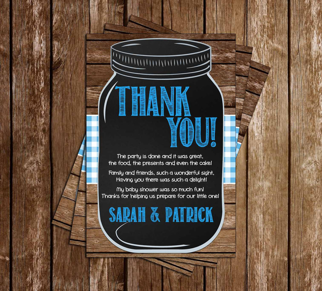 Baby-Q - Baby Boy - Baby Shower - Thank You Card