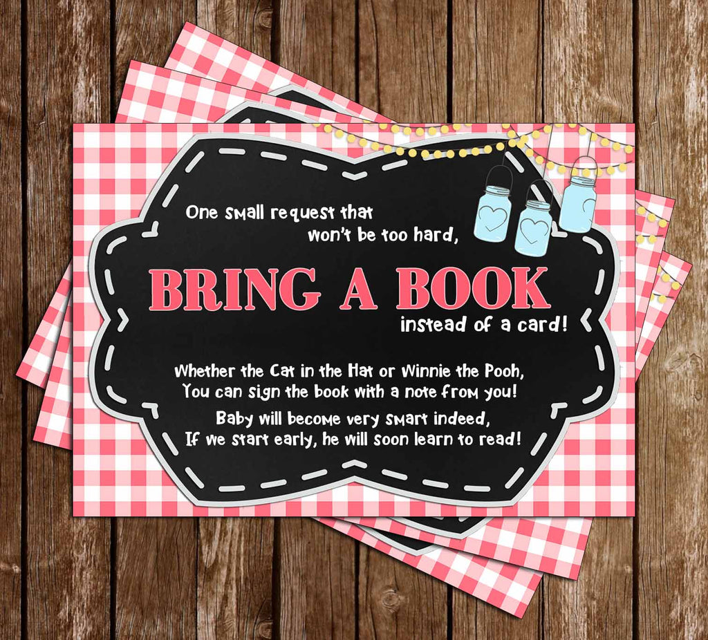 Baby-Q - Baby Girl - Baby Shower - Bring A Book Insert
