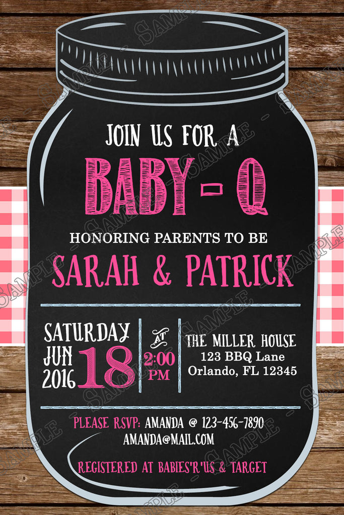 Novel Concept Designs - BBQ - Baby-Q - Baby Girl - Baby Shower ...
