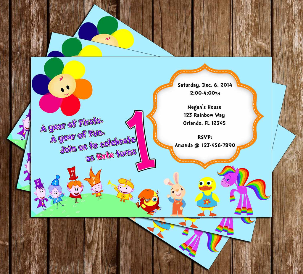 Baby First TV - 1st Birthday - Birthday Invitation - PRINTED INVITATIONS