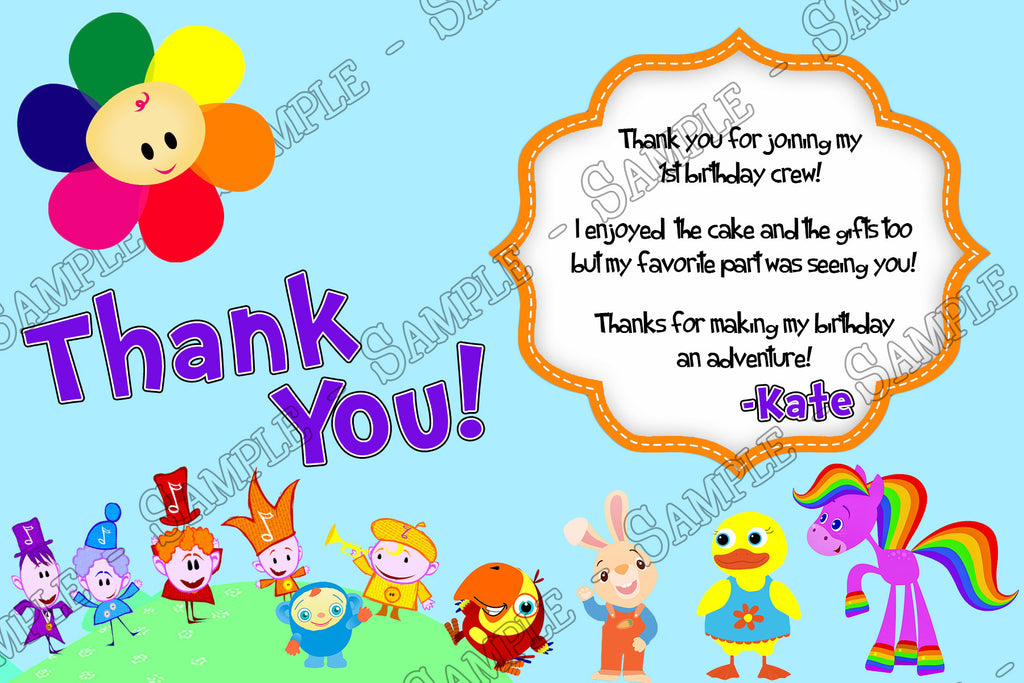 Novel Concept Designs Baby First TV 1st Birthday Birthday – 1st Birthday Thank You Cards