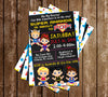 Baby Marvel - Girl - Baby Shower - Invitation