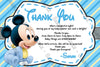 Baby Mickey Mouse - Ultrasound - Baby Shower Invitation