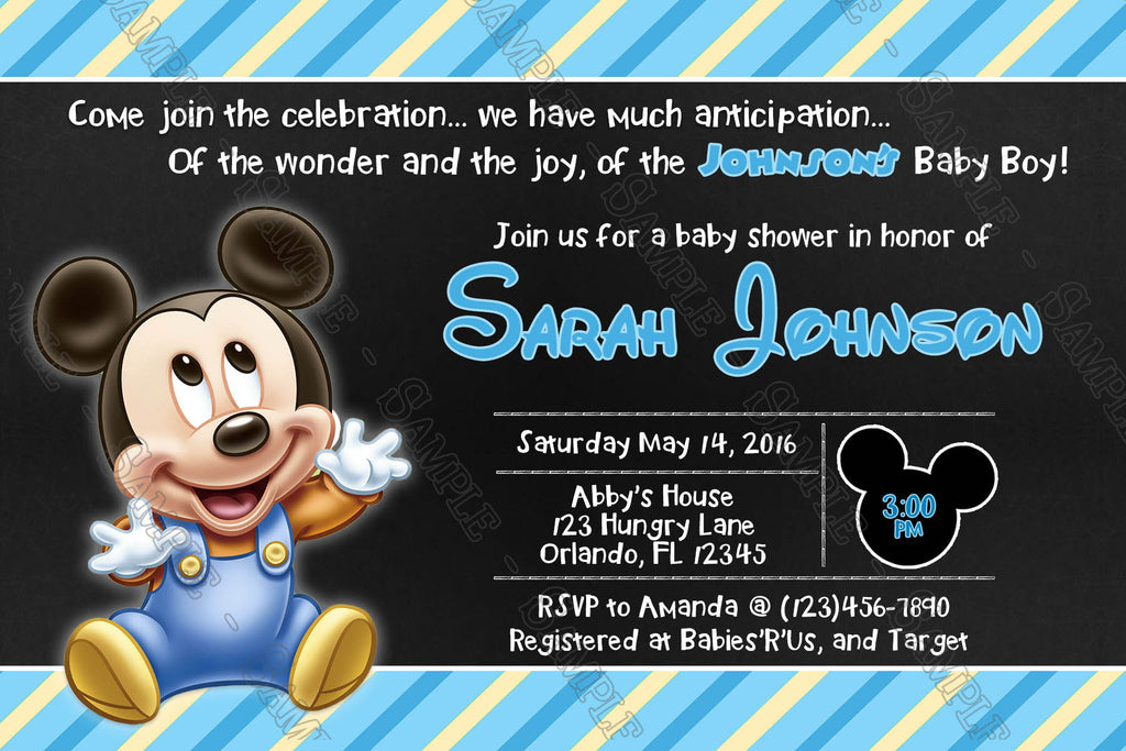 Novel Concept Designs - Baby Mickey Mouse - Baby Boy - Baby Shower ...