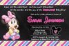 Baby Minnie Mouse - Baby Girl - Baby Shower Invitation