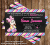 Minnie Mouse - Baby Girl - Baby Shower Invitation