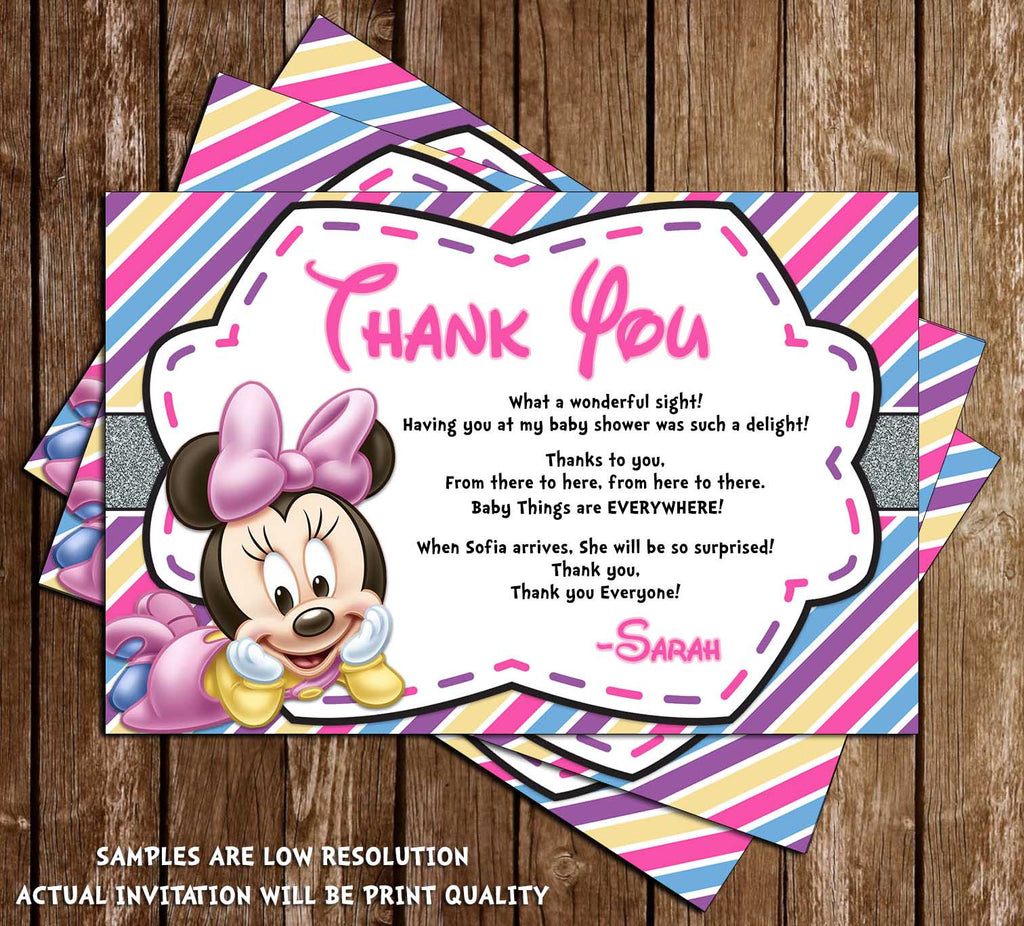 Novel Concept Designs - Baby Minnie Mouse - Baby Girl - Baby Shower ...