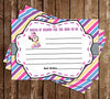 Baby Minnie Mouse - Baby Girl - Baby Shower - Words of Wisdom Card