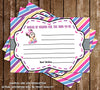 Baby Minnie Mouse - Baby Girl - Baby Shower - Thank You Card
