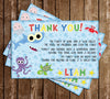 Baby Shark - Blue Birthday Party - Invitation