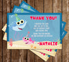 Baby Shark - Girl - Birthday Party - Invitation