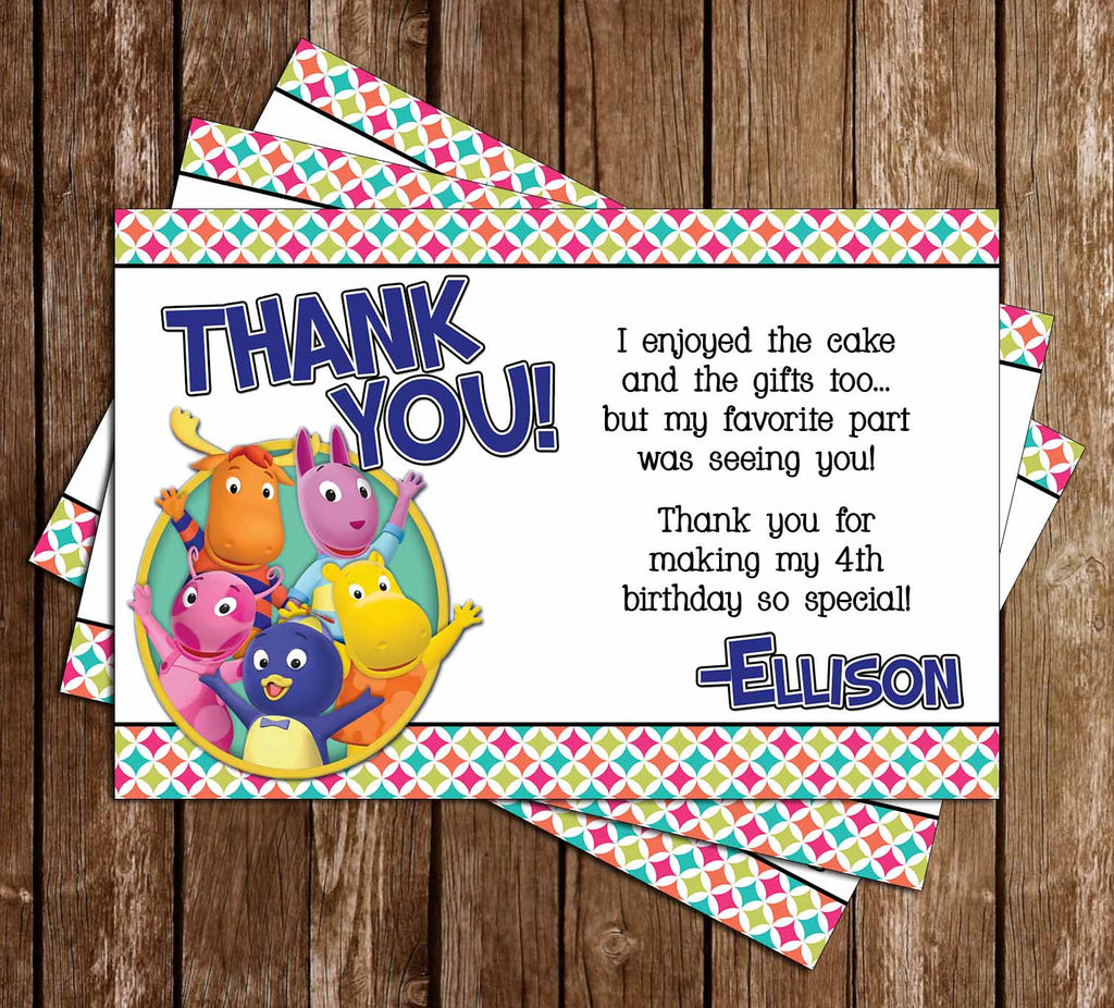 Backyardigans Show Birthday Thank You Card