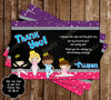 Ballet - Dance Birthday Party Ticket Invitations