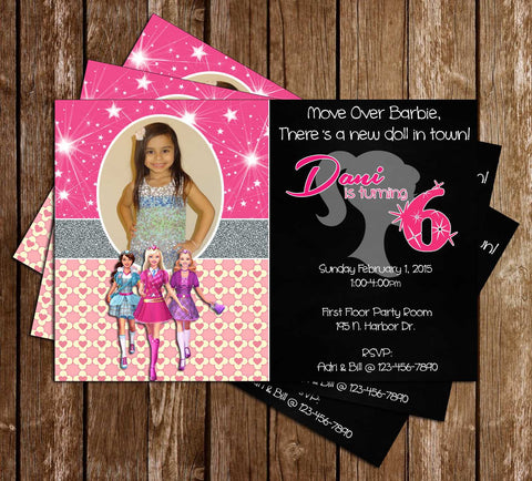 Barbie Doll Birthday Party Invitation Printable