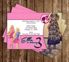 Barbie Birthday Party Invitation Printable with Photo
