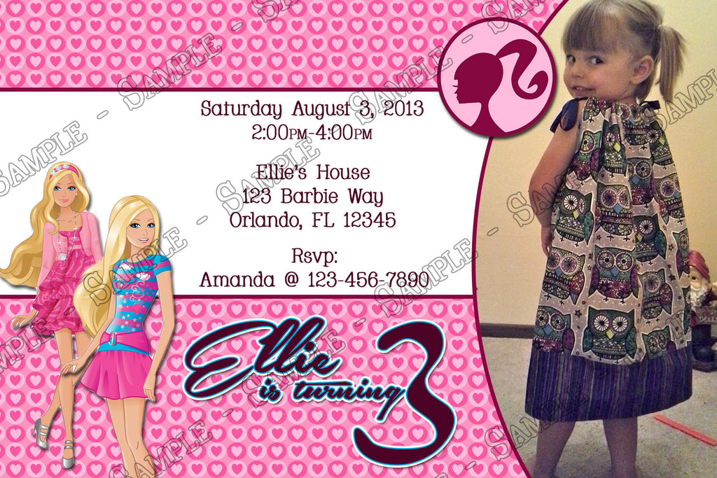 Novel Concept Designs - Barbie Birthday Party Invitation Printable ...
