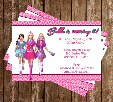 Barbie Birthday Party Invitation Printable