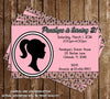 Vintage Barbie Doll Birthday Party Invitation Printable