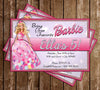 Barbie - Glitter - Birthday Party - Invitation