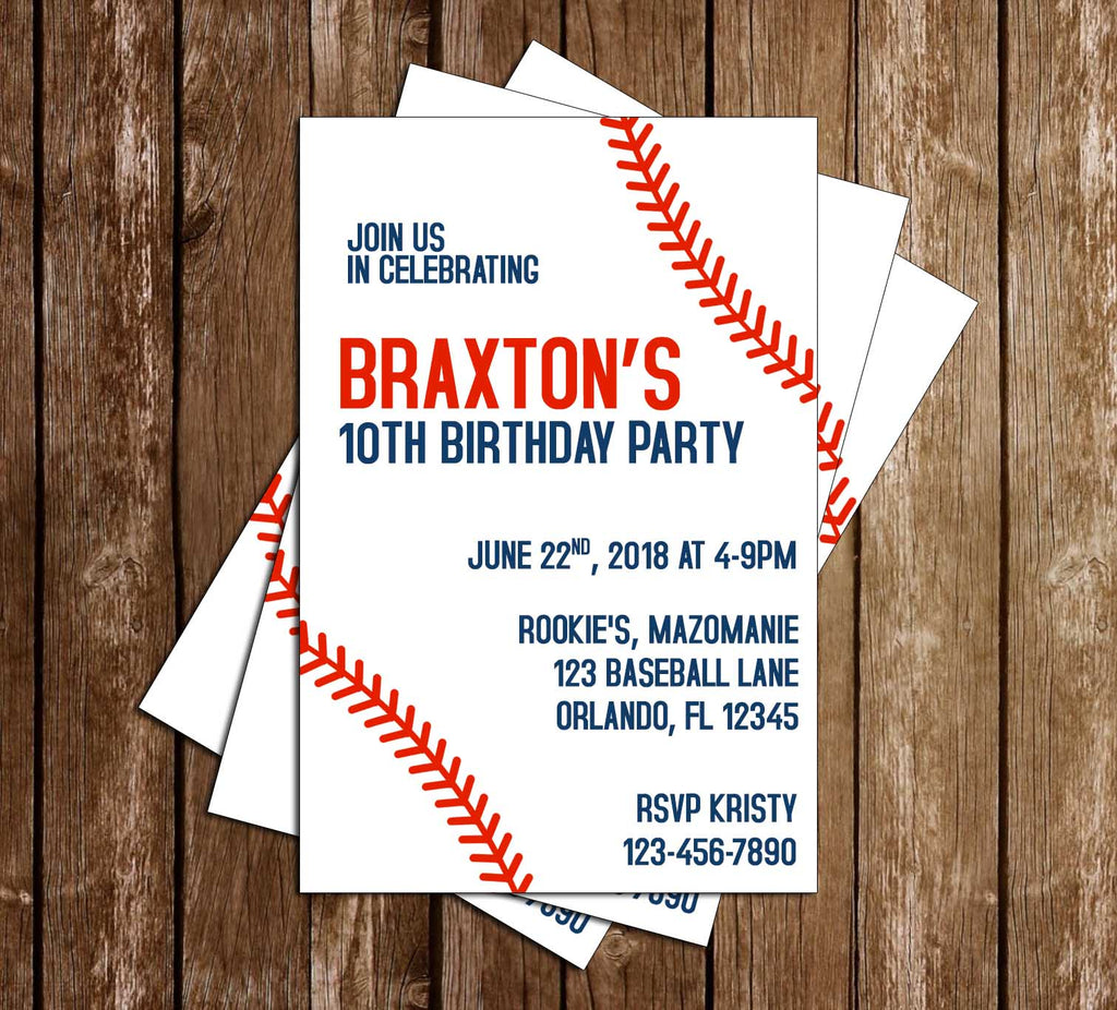 Novel Concept Designs - Baseball - with Laces - Birthday Party ...