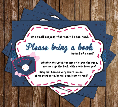 Baseball or Bows - Gender Reveal - Baby Shower Book Insert