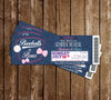 Baseball or Bows - Gender Reveal - Baby Shower Invitation