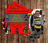 Lego Batman Video Game Birthday Invitation (Photo)