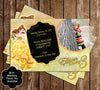 Disney Beauty and the Beast - Princess Belle - Birthday Thank You Card