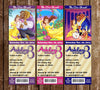 Disney Beauty and the Beast - Princess Belle - Movie Birthday Ticket Invitation