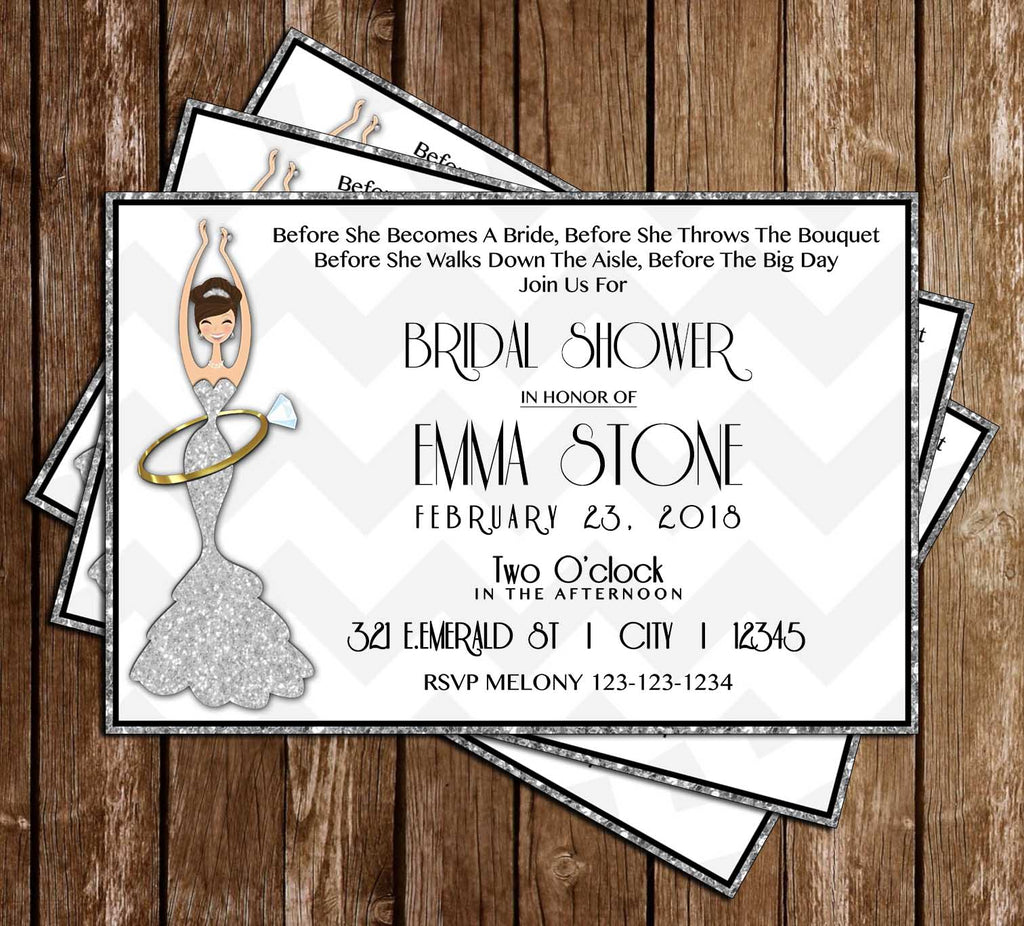 Before She Becomes a Mrs - Bridal Shower - Invitation