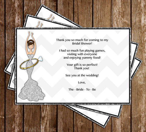 Before She Becomes a Mrs - Bridal Shower - Thank You Card
