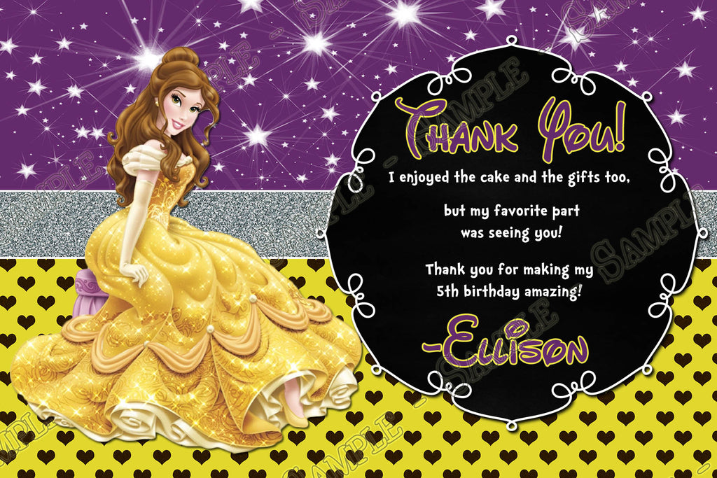 Novel concept designs disney princess belle beauty and the beast disney princess belle beauty and the beast birthday invitations filmwisefo