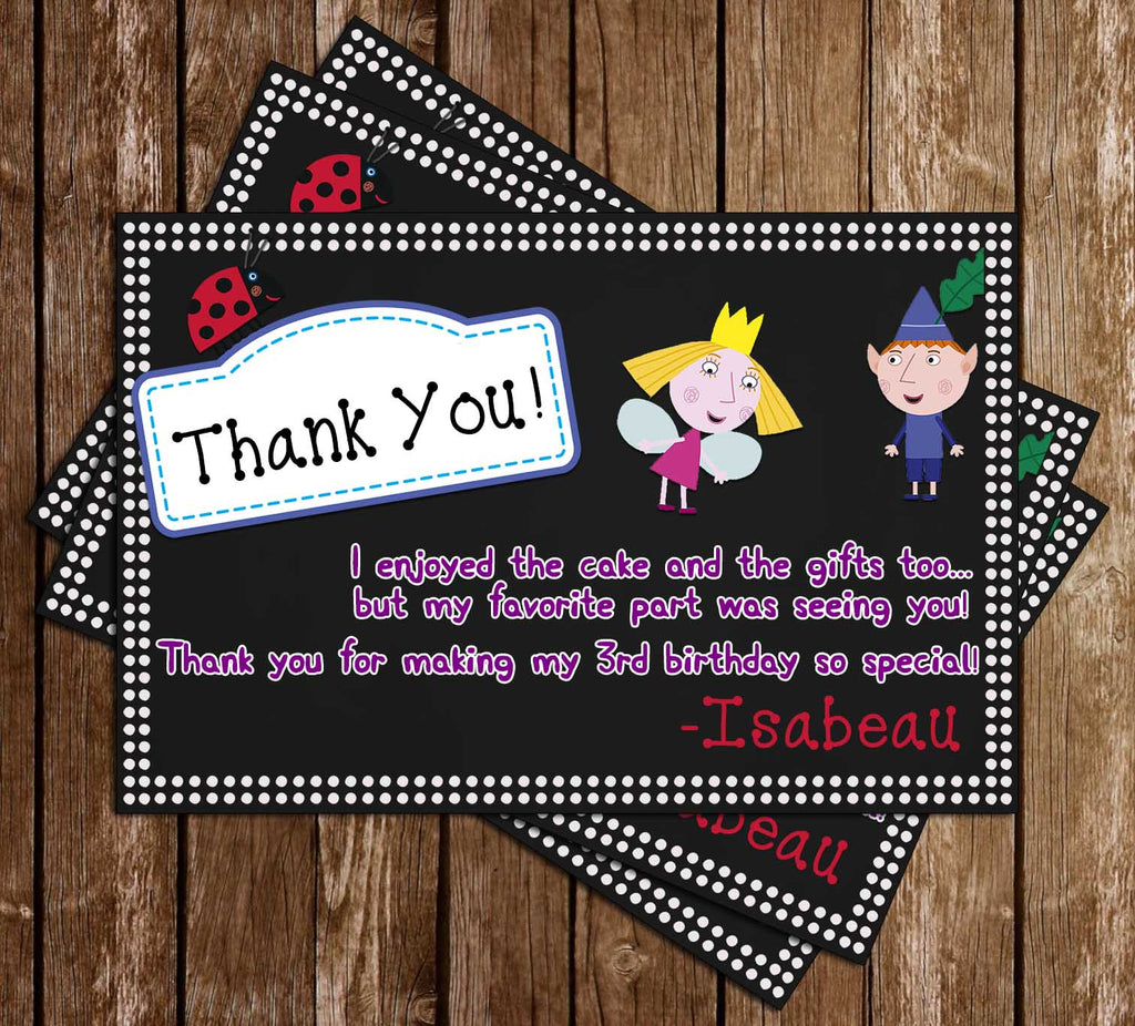 Ben & Holly's Little Kingdom - Birthday - Thank You Card